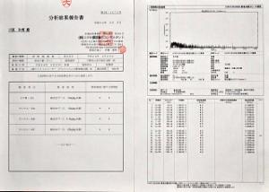 放射能、分析結果報告書